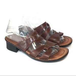 Josef Seibel Leather Milena Roma Brown Sandals 39